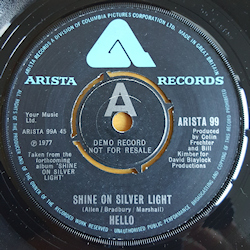Hello - Shine on Silver Light/Gotta Lotta Soul Demo